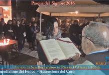 manuwebtv-Movimento-Celestiniano-Celebrazioni-Settimana-Santa-Benedizione-fuoco-accensione -Cero
